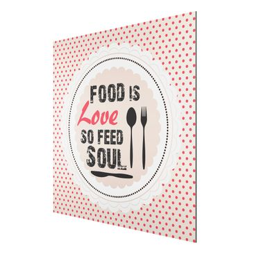 Product picture Aluminium Print - Mural No.KA27 Food Is...