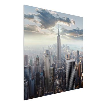 Produktfoto Aluminium Print - Mural Sunrise In New...