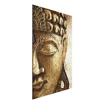 Product picture Aluminium Print - Mural Vintage Buddha -...