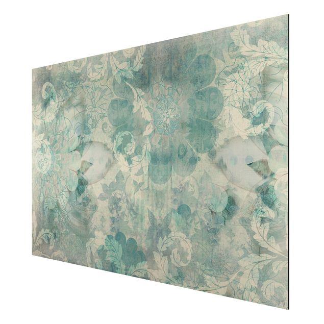 Produktfoto Aluminium Print - Wandbild Eisblumen -...