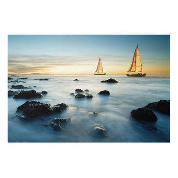 Product picture Aluminium Print - Mural Sailboats in the...