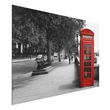 Produktfoto Aluminium Print - Wandbild Telephone -...