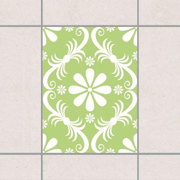 Immagine del prodotto Adesivo per piastrelle - Floral Spring Green 20cm x 15cm
