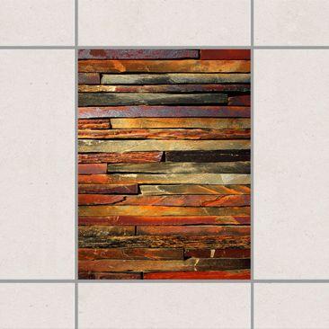 Produktfoto Fliesenaufkleber - Bretterstapel 20x15 cm - Fliesensticker Set