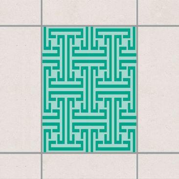 Produktfoto Fliesenaufkleber - Dekoratives Labyrinth 20x15 cm - Fliesensticker Set