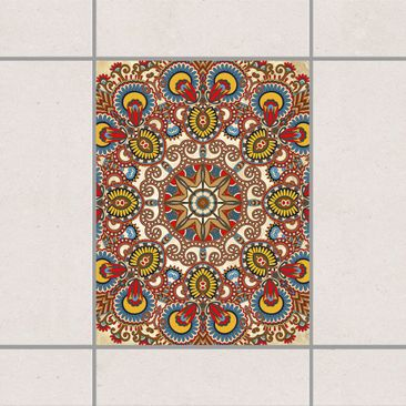 Produktfoto Fliesenaufkleber - Farbiges Mandala 20x15 cm - Fliesensticker Set