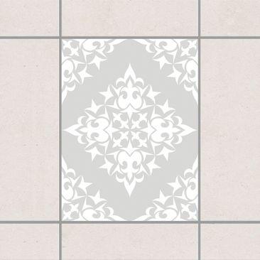 Produktfoto Fliesenaufkleber - Fliesenmuster Light Grey 20x15 cm - Fliesensticker Set Grau