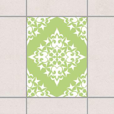 Produktfoto Fliesenaufkleber - Fliesenmuster Spring Green 20x15 cm - Fliesensticker Set Grün