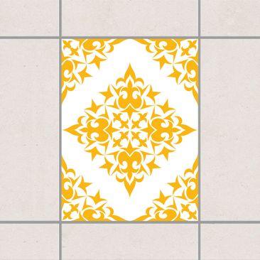Produktfoto Fliesenaufkleber - Fliesenmuster White Melon Yellow 20x15 cm - Fliesensticker Set