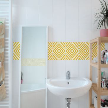 Product picture Tile Sticker - Yellow Marina Melon 20cm...