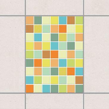 Product picture Tile Sticker - Mosaic Tiles Summer Set...