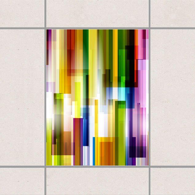 Fliesenaufkleber - Rainbow Cubes 20x15...