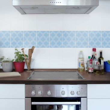 Product picture Tile Sticker - Retro Light Blue Morocco...