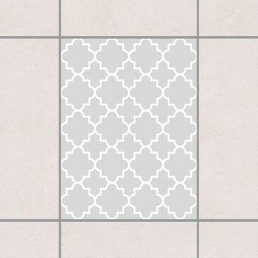 Produktfoto Fliesenaufkleber - Traditional Quatrefoil Light Grey 20x15 cm - Fliesensticker Set Grau