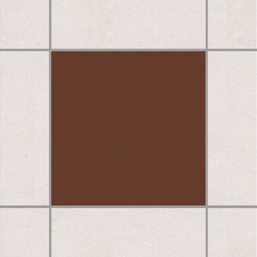 Product picture Tile Sticker - Colour Chocolate 10cm x...