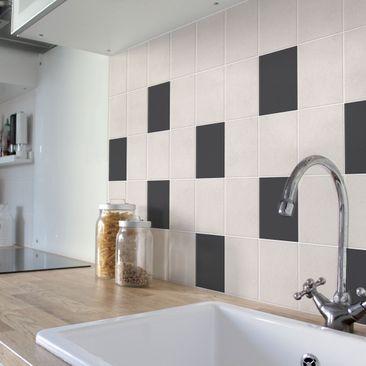Produktfoto Fliesenaufkleber Bad & Küche - Colour Dark Grey 10x10 cm - Set