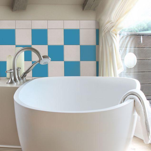 Produktfoto Fliesenaufkleber Bad & Küche - Colour Grey Cyan 10x10 cm - Set
