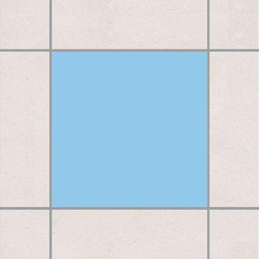 Produktfoto Fliesenaufkleber Bad & Küche - Colour Light Blue 10x10 cm - Set Blau