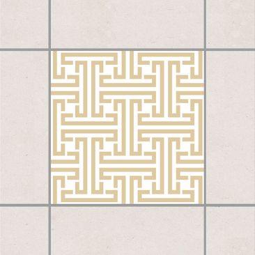 Produktfoto Fliesenaufkleber - Dekoratives Labyrinth Light Brown 10x10 cm - Fliesensticker Set