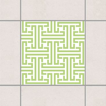 Produktfoto Fliesenaufkleber - Dekoratives Labyrinth Spring Green 10x10 cm - Fliesensticker Set