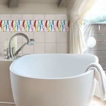 Product picture Tile Sticker - Splashes of colour 10cm x...