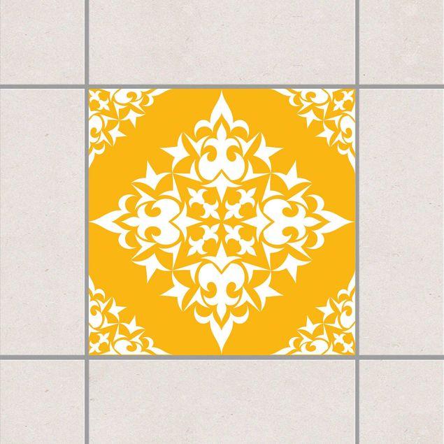 Produktfoto Fliesenaufkleber - Fliesenmuster Melon Yellow 10x10 cm - Fliesensticker Set Gelb