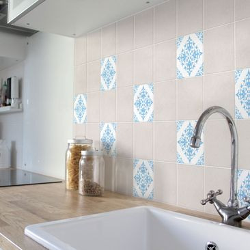 Product picture Tile Sticker - Tile Pattern White Light...