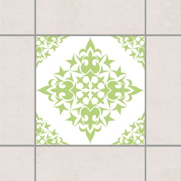 Product picture Tile Sticker - Tile Pattern White Spring...