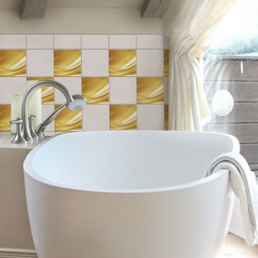 Product picture Tile Sticker - Golden Glow 10cm x 10cm