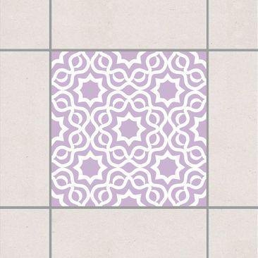 Product picture Tile Sticker - Islamic Lavender 10cm x...