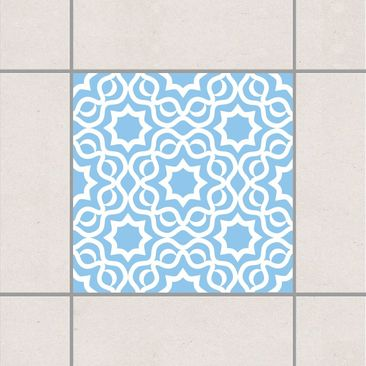 Product picture Tile Sticker - Islamic Light Blue 10cm x...