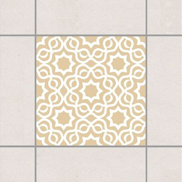 Produktfoto Fliesenaufkleber - Islamic Light Brown 10x10 cm - Fliesensticker Set Braun