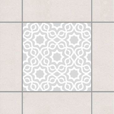 Product picture Tile Sticker - Islamic Light Grey 10cm x...