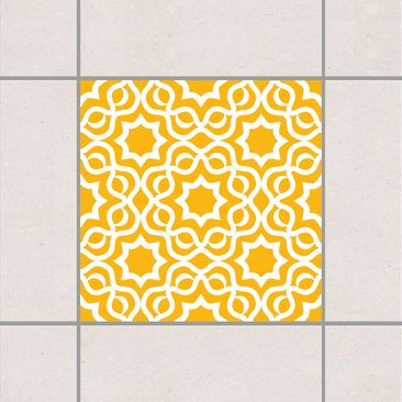 Product picture Tile Sticker - Islamic Melon Yellow 10cm...
