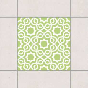 Product picture Tile Sticker - Islamic Spring Green 10cm...