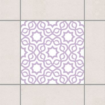 Product picture Tile Sticker - Islamic White Lavender...