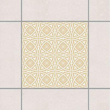 Produktfoto Fliesenaufkleber - Keltisch Light Brown 10x10 cm - Fliesensticker Set Braun