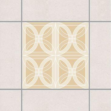 Produktfoto Fliesenaufkleber - Kreisförmiges Fliesendesign Light Brown 10x10 cm - Fliesensticker Set