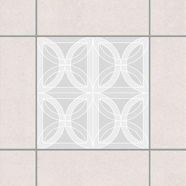Immagine del prodotto Adesivo per piastrelle - Circular Tile Design Light Grey 10cm x 10cm
