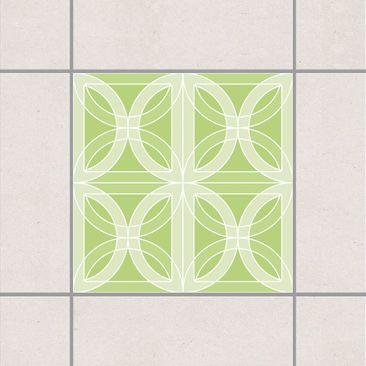Produktfoto Fliesenaufkleber - Kreisförmiges Fliesendesign Spring Green 10x10 cm - Fliesensticker Set
