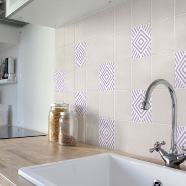 Product picture Tile Sticker - Lavender Marina 10cm x...