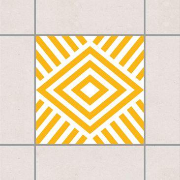 Produktfoto Fliesenaufkleber - Marina Melon Yellow 10x10 cm - Fliesensticker Set Gelb