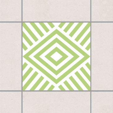 Produktfoto Fliesenaufkleber - Marina Spring Green 10x10 cm - Fliesensticker Set Grün