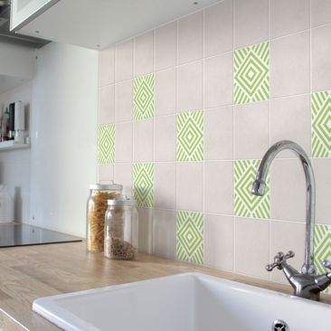 Product picture Tile Sticker - Marina Spring Green 10cm...