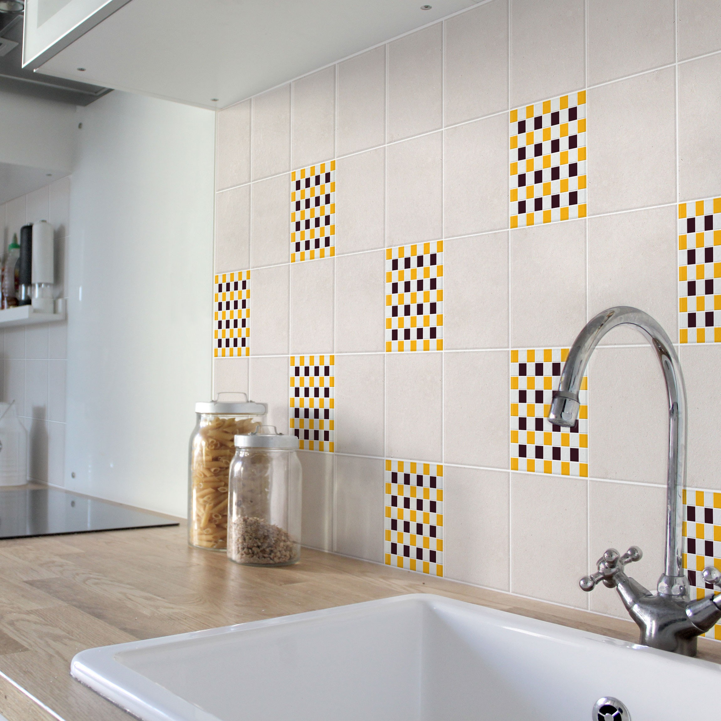 Fliesenaufkleber Mosaik Selbstklebende Mosaikfliesen Aubergine
