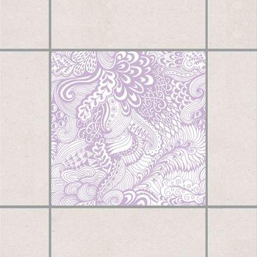 Produktfoto Fliesenaufkleber - Poseidons Garten Lavender 10x10 cm - Fliesensticker Set Flieder