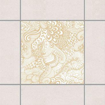 Produktfoto Fliesenaufkleber - Poseidons Garten Light Brown 10x10 cm - Fliesensticker Set Braun