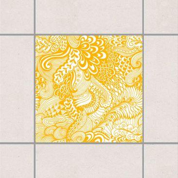 Produktfoto Fliesenaufkleber - Poseidons Garten Melon Yellow 10x10 cm - Fliesensticker Set Gelb