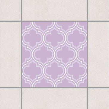 Produktfoto Fliesenaufkleber - Retro Marokko Lavender 10x10 cm - Fliesensticker Set Flieder
