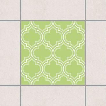Produktfoto Fliesenaufkleber - Retro Marokko Spring Green 10x10 cm - Fliesensticker Set Grün